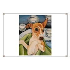 Italian Greyhound Puppy Bath Banner