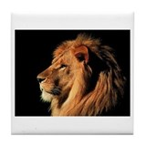 Cute Lion Tile Coaster