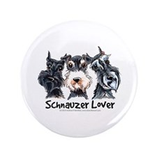 "Miniature Schnauzer Lover 3.5"" Button"