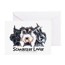 Miniature Schnauzer Lover Greeting Cards (Pk of 10