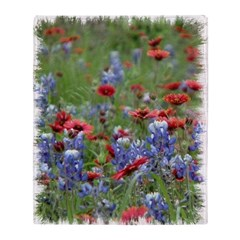BLUEBONNETS AND FIREWHEELS Throw Blanket