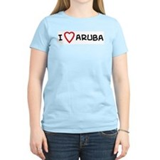 I Love Aruba Women's Pink T-Shirt