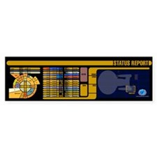 Star Trek LCARS Status Report Bumper Bumper Sticker