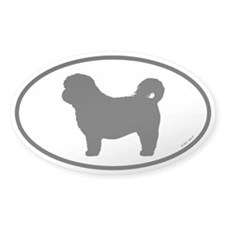 Short Haircut Shih Tzu Oval Decal