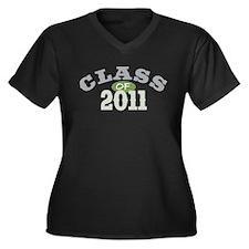 Class Of 2011 Green Women's Plus Size V-Neck Dark