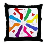 Shoe Mandala Throw Pillow