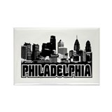 Philadelphia Skyline Rectangle Magnet