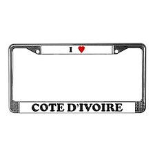 I Love Cote D'ivoire License Plate Frame
