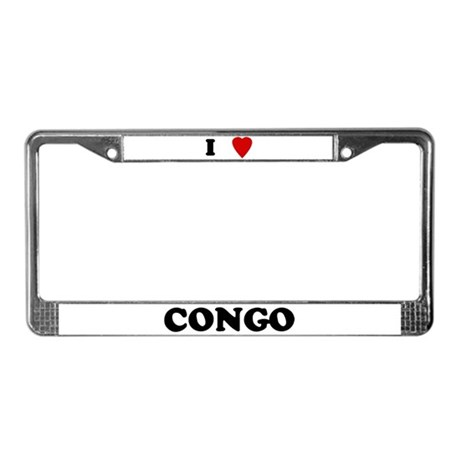 I Love Congo License Plate Frame