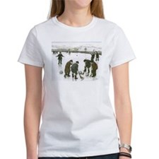 """""""Old time curling"""" Women's T-shirt"""