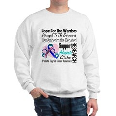 Hope Tribute Thyroid Cancer Sweatshirt