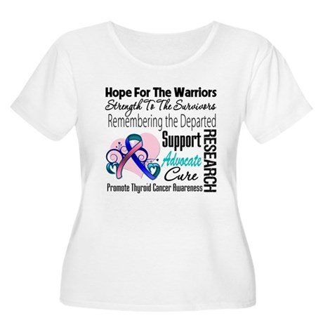 Hope Tribute Thyroid Cancer Women's Plus Size Scoo