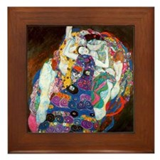 Gustav Klimt Art Framed Tile Maiden