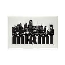 Miami Skyline Rectangle Magnet