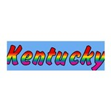 Rainbow Kentucky Text 42x14 Wall Peel