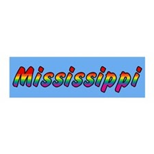 Rainbow Mississippi Text 21x7 Wall Peel