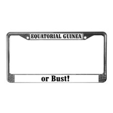 Equatorial Guinea or Bust! License Plate Frame