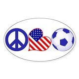 U.S.A. Soccer Fan Decal