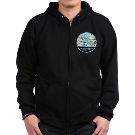 Prostate Cancer Survivor Cool Zip Hoodie (dark)