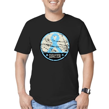 Prostate Cancer Survivor Cool Men's Fitted T-Shirt