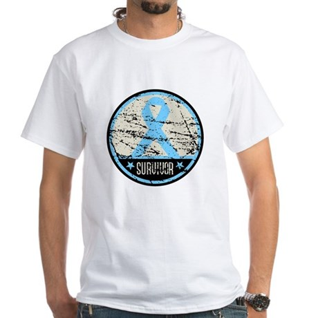 Prostate Cancer Survivor Cool White T-Shirt