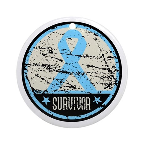 Prostate Cancer Survivor Cool Ornament (Round)