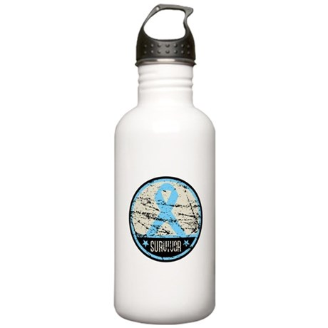 Prostate Cancer Survivor Cool Stainless Water Bott
