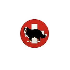 Standing Bernese Mountain Dog Mini Button