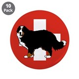 "Standing Bernese Mountain Dog 3.5"" Button (10 pack"