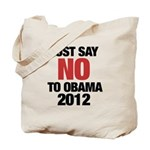 No Obama in 2012 Tote Bag