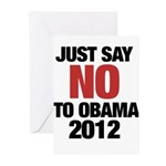 No Obama in 2012 Greeting Cards (Pk of 10)