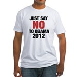 No Obama in 2012 Fitted T-Shirt