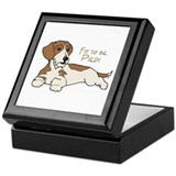 Wirehair Piebald Dachshund Keepsake Box