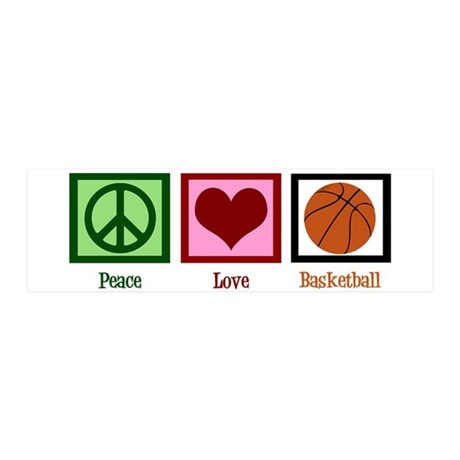 Peace Love Basketball 20x6 Wall Decal