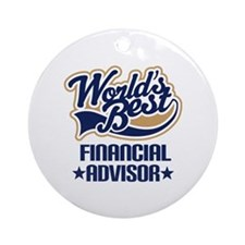 Financial Advisor Ornament (Round)