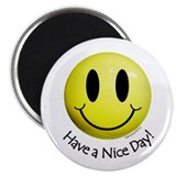"Nice Day Smiley 2.25"" Magnet (10 pack)"
