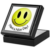 Nice Day Smiley Keepsake Box