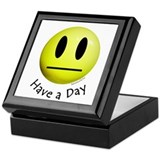 Have a Day Smiley Keepsake Box