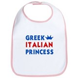 Greek Italian Princess Bib