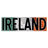 Ireland Car Bumper Car Sticker