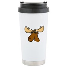 Moose with Shades Ceramic Travel Mug