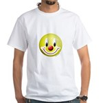 Clown Smiley White T-Shirt