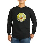 Clown Smiley Long Sleeve Dark T-Shirt