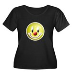 Clown Smiley Women's Plus Size Scoop Neck Dark T-S