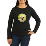 Clown Smiley Women's Long Sleeve Dark T-Shirt