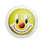 Clown Smiley Ornament (Round)