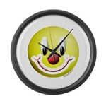 Clown Smiley Large Wall Clock