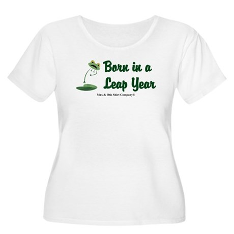 Born in a Leap Year Women's Plus Size Scoop Neck T