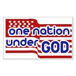 One Nation Under God Sticker (Rectangle 10 pk)