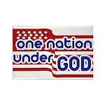 One Nation Under God Rectangle Magnet (100 pack)